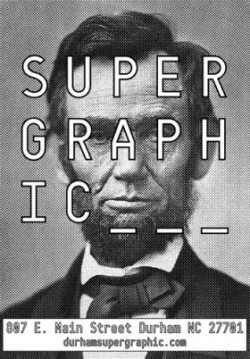 Supergraphic poster Lincoln